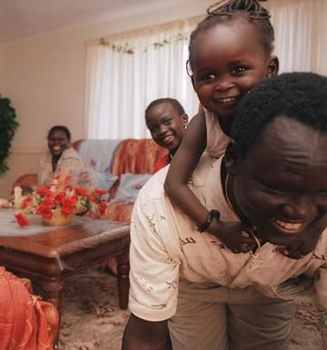 Santino with his children