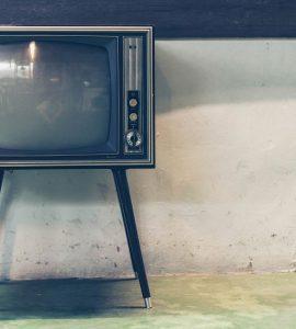Television set in corner