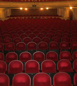 Ornate theatre seats