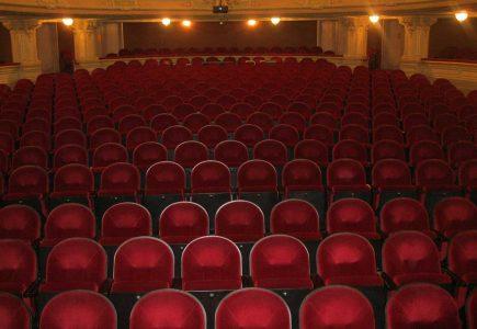 Ornate theatre seats