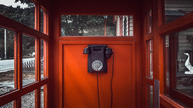 Telephone in telephone box