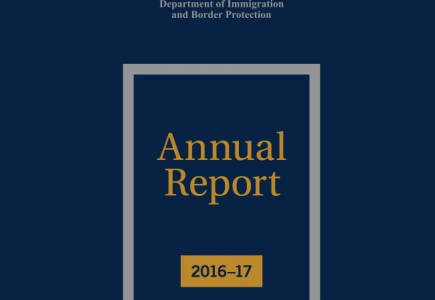 Front cover of Department's annual report