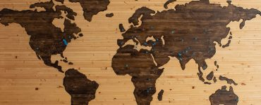 Cork world map with pins