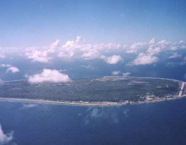 Nauru from the air