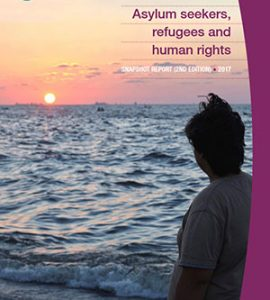 Front cover of Australian Human Rights Commission snapshot report