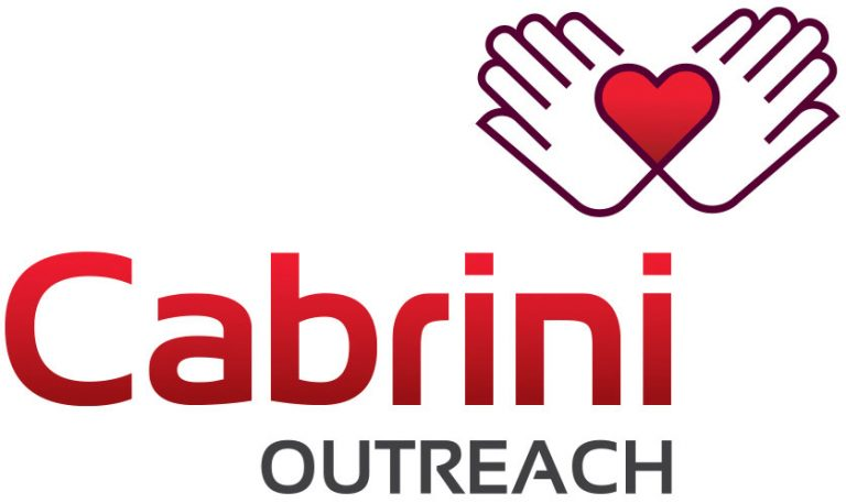 Cabrini outreach logo with heart in hands