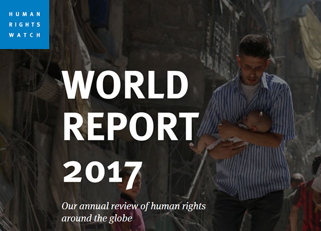 Cover of Human Rights Watch's World Report 2017