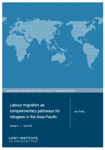 Cover of Lowy report on Labour migration