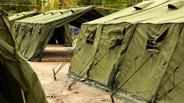 Tents in Manus Island regional processing centre