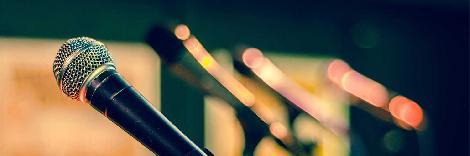 Line of microphones