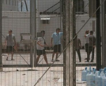 Men in detention centre