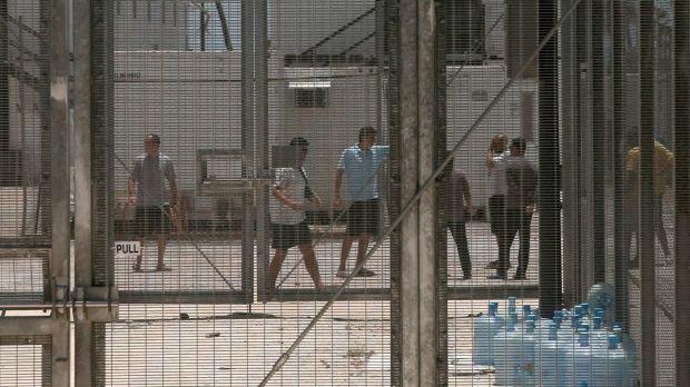Men in detention centre