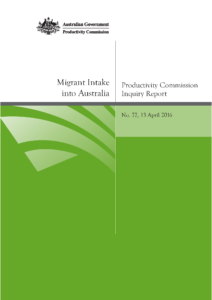 Front cover of Productivity Commission report