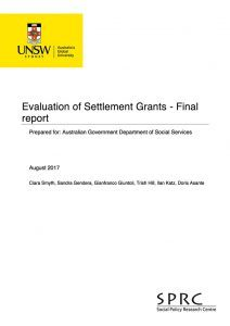 Cover of Evaluating the Settlement Grants Program