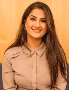 Sarah Yahya with orange background