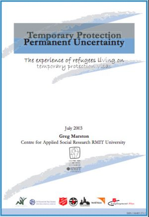 Front cover of temporary protection report