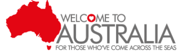 Welcome to Australia logo