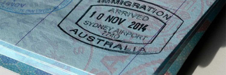 Passport With Australia Immigration Stamp