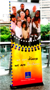 Brisbane welcome banner