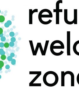 Refugee Welcome Zones with green logo