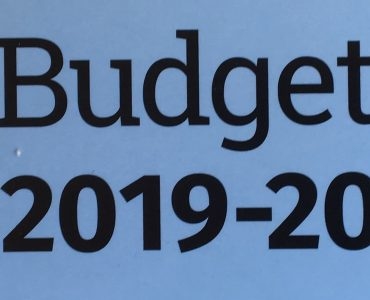 Blue front cover of Budget 2019-20