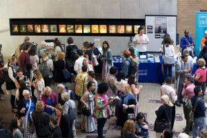 People at Refugee Alternatives conference mingling