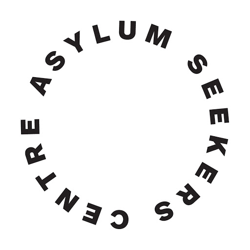 Asylum Seekers Centre logo in circle of text