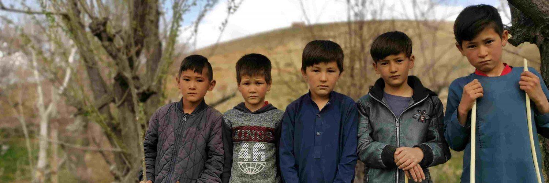 Boys in a village in afghanistan